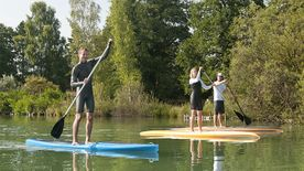 Stand Up Paddling auf dem Ludwigsee